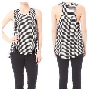 PPLA Clothing Racerback Striped Ribbed Swing Tank